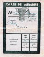Comité Central D'action Et De Défense Paysanne - Carte De Membre 1938 - Historical Documents