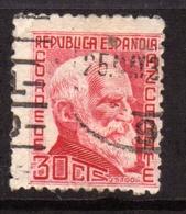 SPAIN ESPAÑA SPAGNA 1935 GUMERSINDO DE AZCARATE CENT. 30c USATO USED OBLITERE' - 1931-Tegenwoordig: 2de Rep. - ...Juan Carlos I