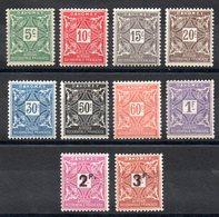 DAHOMEY - YT Taxe N° 9 à 18 -  Neufs * - MH - Cote: 24,25 € - Dahomey (1899-1944)