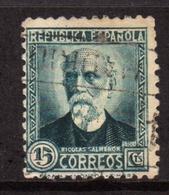 SPAIN ESPAÑA SPAGNA 1931 1932 NICOLAS SAIMERON CENT. 15c USATO USED OBLITERE' - 1931-Tegenwoordig: 2de Rep. - ...Juan Carlos I