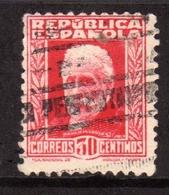 SPAIN ESPAÑA SPAGNA 1931 1932 PABLO IGLESIAS CENT. 30c USATO USED OBLITERE' - 1931-Tegenwoordig: 2de Rep. - ...Juan Carlos I