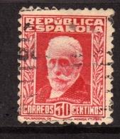 SPAIN ESPAÑA SPAGNA 1931 1932 PABLO IGLESIAS CENT. 30c USATO USED OBLITERE' - 1931-Aujourd'hui: II. République - ....Juan Carlos I