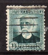 SPAIN ESPAÑA SPAGNA 1931 1932 NICOLAS SAIMERON CENT. 15c USATO USED OBLITERE' - 1931-Aujourd'hui: II. République - ....Juan Carlos I