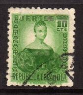 SPAIN ESPAÑA SPAGNA 1935 MARIANA PINEDA CENT. 10c USATO USED OBLITERE' - 1931-Aujourd'hui: II. République - ....Juan Carlos I