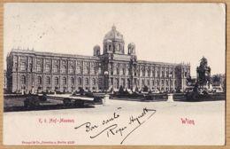 All152 WIEN K.K. HOF Museum VIENNE Österreich 1903 à Blanchisserie Suzanne 16 Rue Sèvres Boulogne-Seine  STENGEL DRESDE - Otros