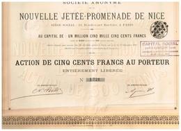 Ancien Titre - Société Anonyme De La Nouvelle Jetée-Promenade De Nice - Titre De 1891 - VF - Russie