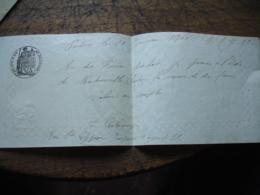 Papier Filigranne  Papier Timbre 1898 Lettre De Changer Timbre Fiscal Poitiers - Lettres De Change