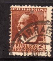 SPAIN ESPAÑA SPAGNA 1931 1934 BLASCO IBANEZ CENT. 2c USATO USED OBLITERE' - 1931-Tegenwoordig: 2de Rep. - ...Juan Carlos I