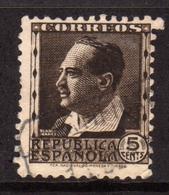 SPAIN ESPAÑA SPAGNA 1931 1934 BLASCO IBANEZ CENT. 5c USATO USED OBLITERE' - 1931-Tegenwoordig: 2de Rep. - ...Juan Carlos I
