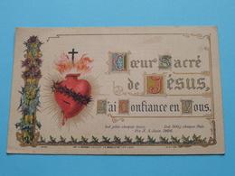 Coeur Sacré De JESUS - J'ai Confiance En Vous ( Imp. H. Bonamy Edit. La Madeleine-lez-Lille ) Voir Photo ! - Godsdienst & Esoterisme