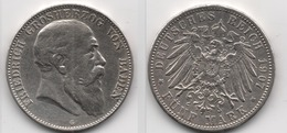 + ALLEMAGNE + TRES BELLE + 5  MARK 1907 G    +  BADE + - [ 2] 1871-1918 : German Empire