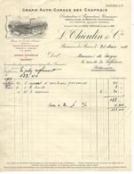 Lettre 1920 / 25 BESANCON / L. THIEULIN / Garage Des Chaprais / Agence Rochet, Schneider, Delage, Panhard & Levassor - 1900 – 1949