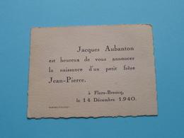 Jacques AUBANTON > Naissance D'un Petit Frère JEAN-PIERRE à Flers-Breucq Le 14 Dec. 1940 ( Voir Photo ) ! - Naissance & Baptême