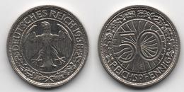 + ALLEMAGNE + TRES BELLE + 50   PFENNIG  1938 E  + - [ 4] 1933-1945 : Third Reich