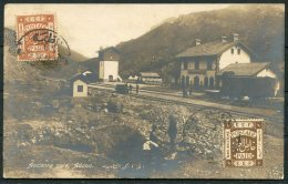 1920 Turkey Adana Railway Station Postcard, Palestine Censor - Casablanca Morocco. Postal Controle - Palestine