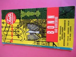 Plan Guide / BONN/Bad Godesberg / Falk Plan / N°166/  Allemagne/ Vers 1970   PGC290 - Dépliants Touristiques