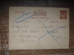 Guerre 39.45 Carte 2 Zones 1940 Inadmis De Rueil Malmaison A Mastugouls 12 - Marcophilie (Lettres)