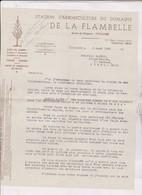 LETTRE COMMERCIALE STATION D ARBORICULTURE DU DOMAINE DE LA FLAMBELLE , ROUTE DE BLAGNAC A TOULOUSE En 1945! - 1900 – 1949