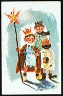 ENFANT - CP - 3 Enfants Déguisés En Rois Mages - Circulé - Circulated - Gelaufen - 1951. - Enfants