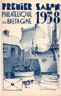Brest - Salon Philatélique De Bretagne 1938 - Carte Par Sévellec Peintre De La Marine - Château - 2 Scans - Poststempel (Briefe)