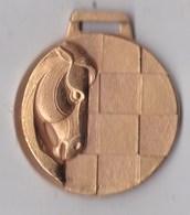 Medaille Jeu échec Le  Cheval - Deportes
