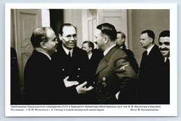 SOVIET Politics & Hitler MOLOTOV In Berlin Before Betrayal Russian Postcard - War 1939-45