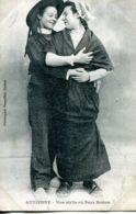 N°73364 -cpa Audierne -une Idylle Au Pays Breton - Costumes