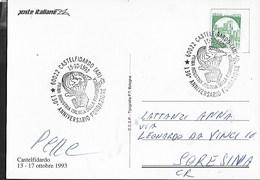 ANNULLO SPECIALE - CASTELFIDARDO -15.10.1993 - INDUSTRIA DELLA FISARMONICA - 130° FONDAZIONE SU CARTOLINA - Musica