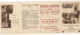 Cinéma EDEN CASINO SENS Film Gaiétés De L'escadron Raimu Jean Gabin Fernandel - Advertising