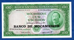 Mozambique   -  100 Escudos  -  Pick # 117  - état  SPL - Mozambique