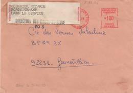 EMA De Genevilliers En Date Du 7.12.1976 Retardée Fortuitement Dans Le Service - Poststempel (Briefe)