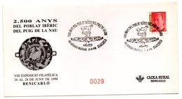 Carta Con Matasellos Commemorativo Poblat Iberic Del Puig De La Nau. - 1931-Hoy: 2ª República - ... Juan Carlos I