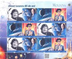 2019. Moldova, Space, 85th Birth Anniversary Of Alexey Leonov, Soviet Cosmonaut, Sheetlet Of 3 Sets, Mint/** - Raumfahrt
