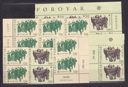 1981 FAROER Faroe EUROPA CEPT EUROPE 10 Serie Di 2v. MNH**: Bl.di 6 +2 Coppie - 1981