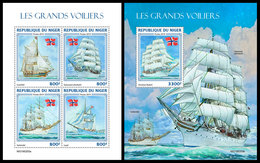 NIGER 2019 - Norwegian Tall Ships, M/S + S/S. Official Issue - Niger (1960-...)