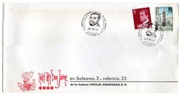 Carta  Con Matasellos Commemorativo Simposium A Vicente Blasco Ibañez Valencia 1981 - 1931-Hoy: 2ª República - ... Juan Carlos I