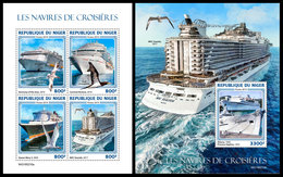 NIGER 2019 - Cruise Ships, M/S + S/S. Official Issue - Niger (1960-...)
