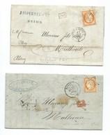 FRANCE - CLASSIQUES : 2 LETTRES Avec N°38.  B à TB. - 1871-1875 Ceres