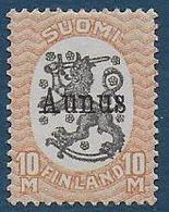 FINLANDE -   N° 132 Neuf Sans Gomme Surchargé AUNUS - Finland