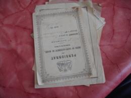 Lot De 7 Billet Satisfaction  Accessit 1874 A 1914 Voir Photo - Diploma & School Reports