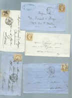 FRANCE - CLASSIQUES : 10 LETTRES Avec N°21.  B à TB. - 1862 Napoleon III
