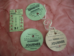 Lot Ticket Badge  Station Ski Saint Lary Soulan Teleski - Biglietti Di Trasporto