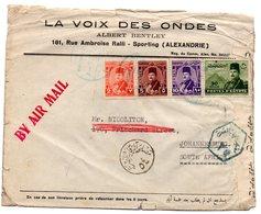 Carta Con Matasellos Air Mail Direccion Johannesburg. - Egipto