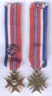 Médaille D'Officier De La Croix D'honneur Franco Britanique 1940 - 1944 ( Miniature ) - France