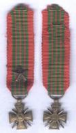 Médaille Croix Guerre 1939 ( Miniature ) - France