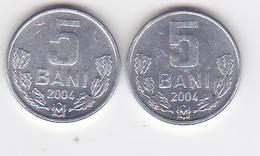 Moldova , Moldavie , Moldawien , 2004 ,  5 Ban , 2 Ex. Coins - Moldova