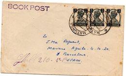 Carta Con Matasellos 1951 Book Post  India - 1950-59 República
