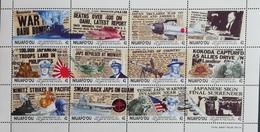 Niuafo Ou  1992 World War II In Pacific, 50th. Anniv. M/s Scott $27.50 - Stamps