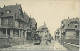 Le Touquet - Paris Plage - L'Avenue Et La Rue Saint Jean - Le Touquet