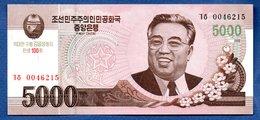 Corée Du Nord -  5000 Won  -  Pick # CS 17   - état  UNC - Corée Du Nord